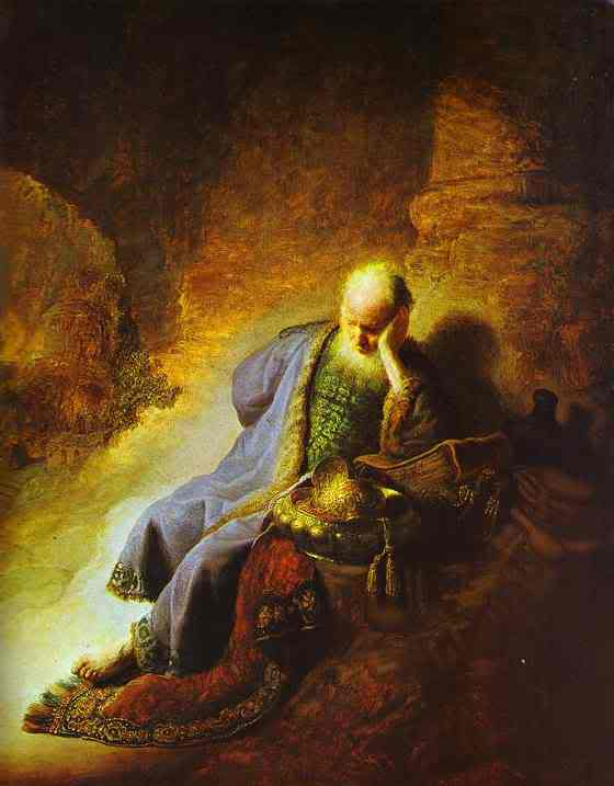 Jeremiah by Rembrandt